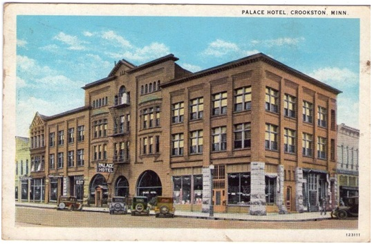 The Palace Hotel In Early Days Crookston